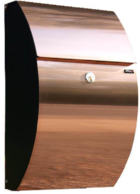 Moderne Allux 7000 postkasse Kobber m. Rukolås. Pris og tilbud på postkasser IY34