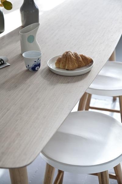 Cinas noble spisebordssæt   hvid. køb billigt her!