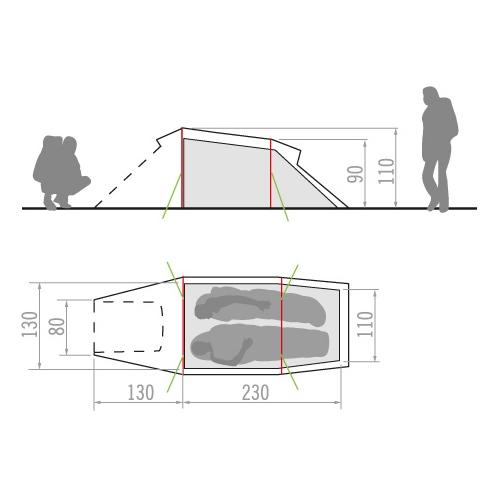 6d3db5d900a Køb Vaude Arco 2P telt til 2 personer online her