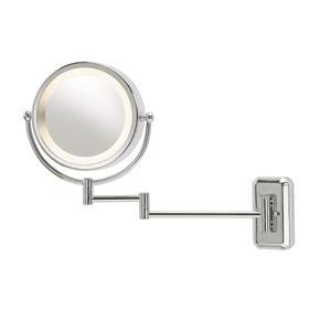 makeupspejl med lys væghængt
