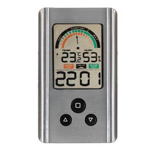Rosenborg digital indendørs termo- og hygrometer. Sølv farvet