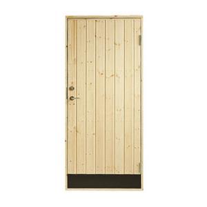 Plus udhusdør i træ, lodret panel 786 x 1878 mm, højre (8 x 19)
