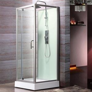 brusekabine 90x90 Logi 900 brusekabine m. bund fra Bathlife, 90 x 90 cm brusekabine 90x90
