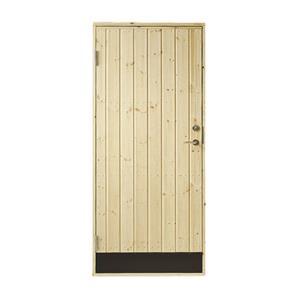 Plus udhusdør i træ, lodret panel 786 x 1878 mm, venstre (8 x 19)