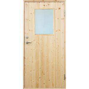 Plus udhusdør standard, lodret panel med vindue 886 x 1978 mm, højre (9 x 20)