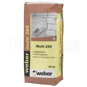 Weber Multi 280 i grå. Pose à 25 kg. Se online