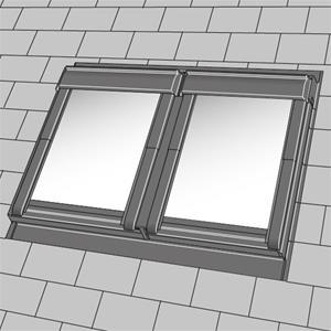 velux tvillingindd kning ebl 0021b fladt tag ck04 lav pris. Black Bedroom Furniture Sets. Home Design Ideas