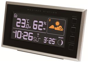 Rosenborg 66844 trådløs vejrstation med inde og ude temperatur og hygrometer