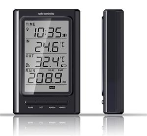 Rosenborg 35926. Trådløs Agimex regnmåler med ude termometer