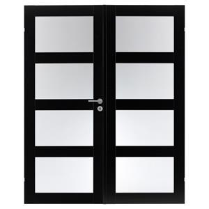 Utroligt Se Swedoor Unique dobbeltdør m/glas Sort (15x21) her BA28