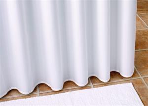 badeforhæng 230 Ekstra langt badeforhæng fra Debel model Victoria i hvid. badeforhæng 230