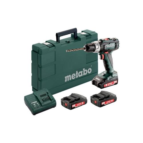 Metabo BS 18 L bore-/skruemaskine 18V med 3 x 2,0 Ah batteri og lader