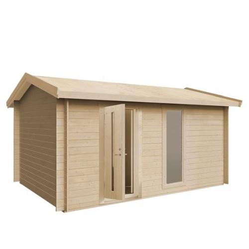 Plus Lux redskabsrum med saddeltag i ubehandlet 15 m2
