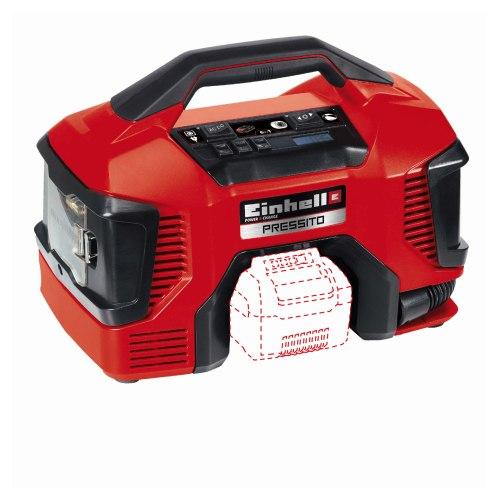 Einhell PRESSITO 18V Li kompressor hybrid 21 l/min. uden batteri og lader