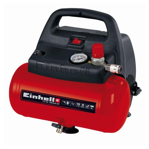 Einhell TC-AC 190/6/8 kompressor 6 liter oliefri 8 bar