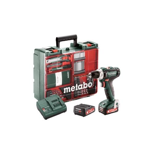 Metabo PowerMaxx BS 12 Workshop bore-/skruemaskine 12V 2x2,0 Ah batteri og lader