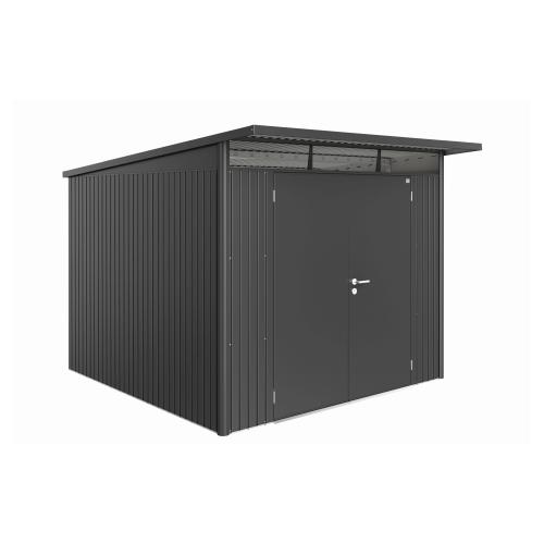 Biohort redskabsrum model AvantGarde A7 mørkegrå metallic med dobbeltdør