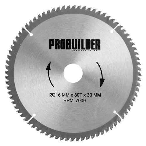 Probuilder klinge til aluminium Ø216 x 30 x 2 mm t80