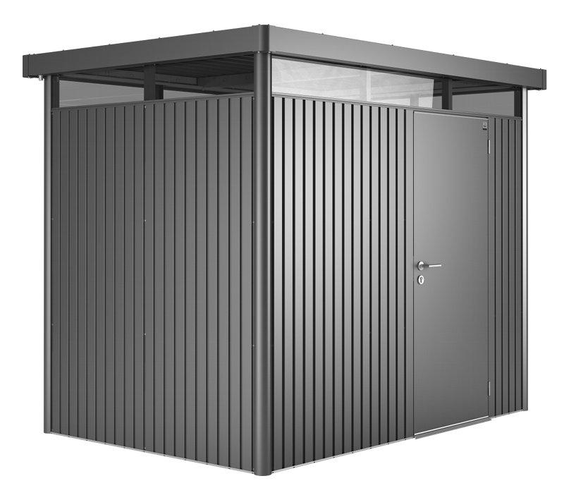 Biohort redskabsrum model HighLine H2 mørkegrå metallic standarddør