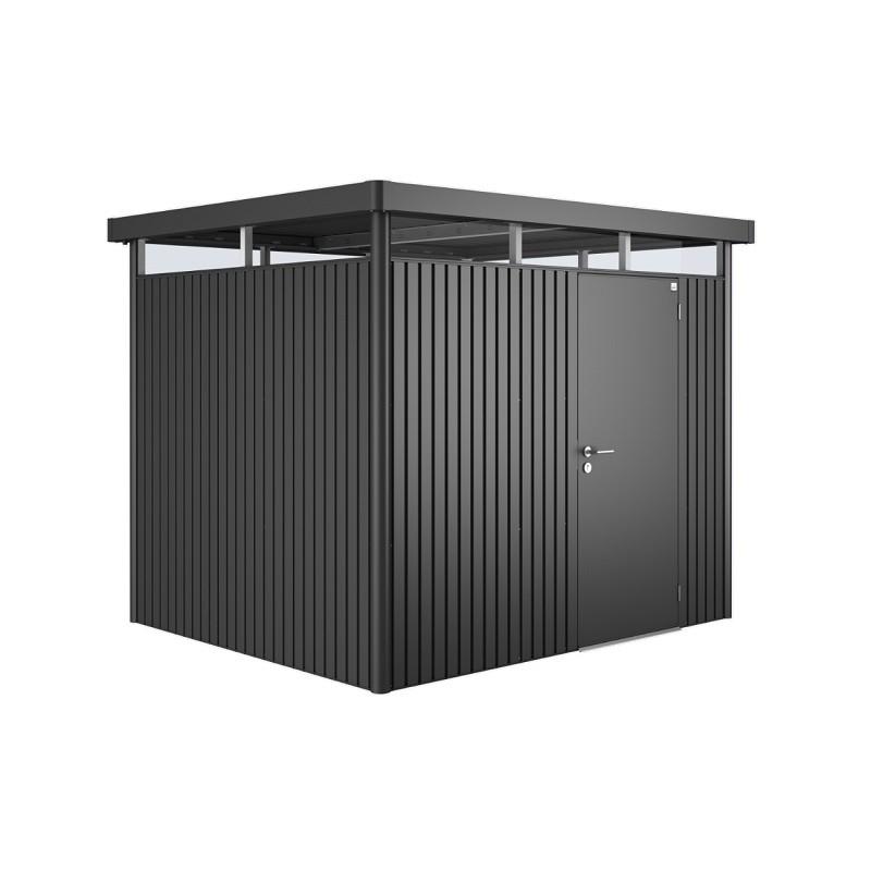 Biohort redskabsrum model HighLine H3 mørkegrå metallic standarddør