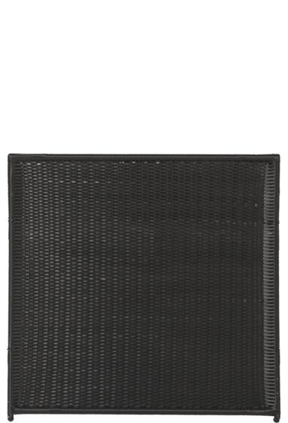 Plus Trend hegn sort i polyrattan flet 115 x 110 cm 16406-1