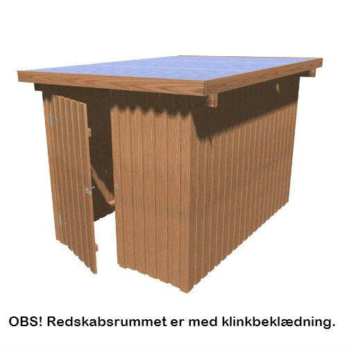 Gardenpro redskabsrum med fladt tag, klinkbeklædning 190 x 280 x 219 cm 5,32 m2