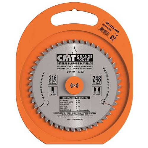 CMT rundsavsklinge 216 x 2,8 x 30 mm. m/48 tænder