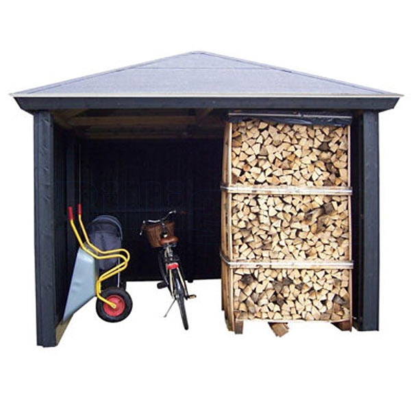 Gardenpro cykelskur / brænderum 311x311 cm - 9,7 m2