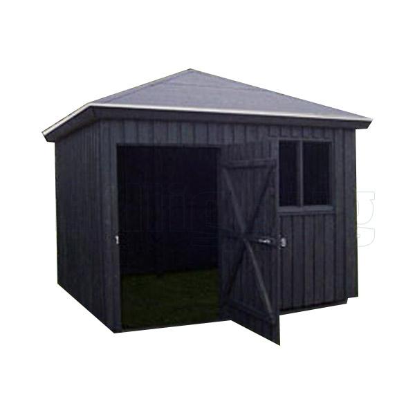Gardenpro redskabsrum med dør og vindue H285 x B311 x L311cm 9,67m2. Ikke malet