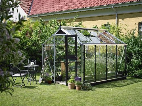 Juliana Compact drivhus 6,6 m2 alu. profiler + 3 mm hærdet glas
