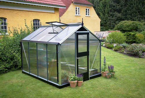 Juliana Compact drivhus 6,6 m2 alu. profiler + 10 mm poly